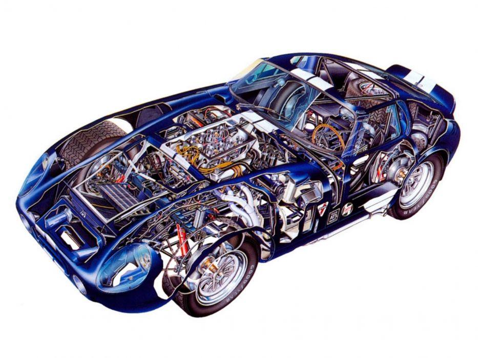 1964 Shelby A-C Cobra Daytona Coupe supercars supercar race racing interior see-through see through wallpaper