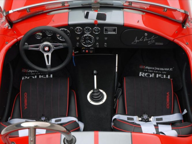 2008 AC Roush MKIIIR Shelby Cobra supercars supercar muscle hot rod rods interior wallpaper