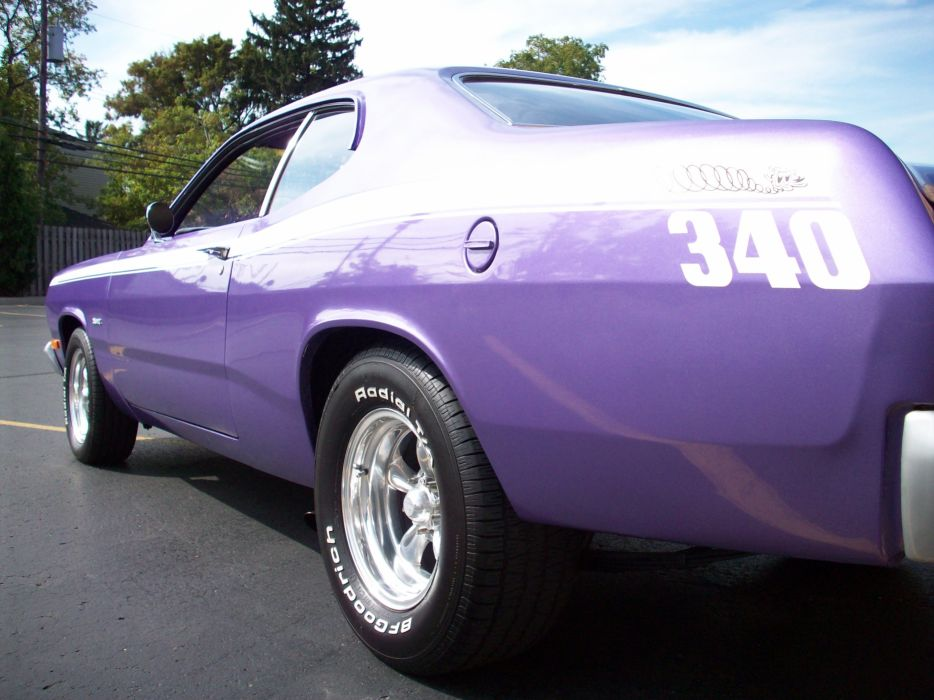 1972 PLYMOUTH DUSTER classic muscle hot rods rod wheel wheels wallpaper