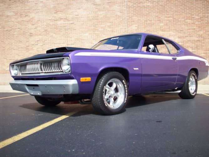 1972 PLYMOUTH DUSTER classic muscle hot rods rod wallpaper
