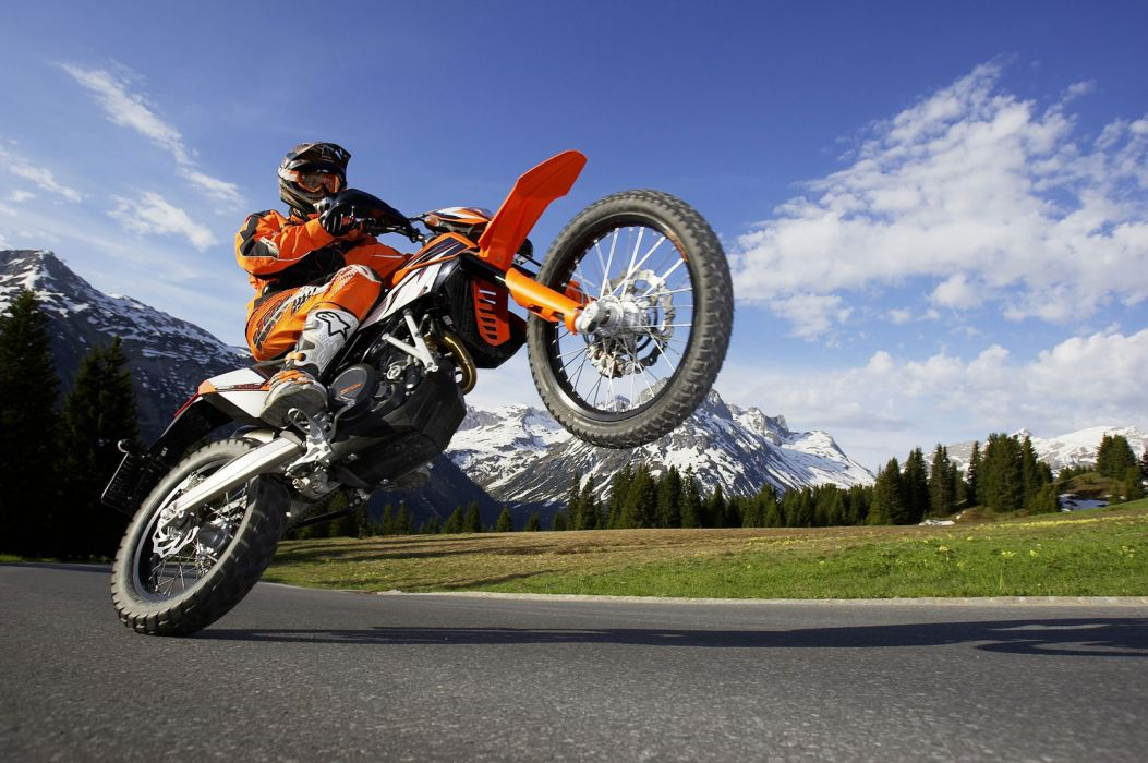 2010 KTM 690 Enduro-R enduro wheelie wallpaper