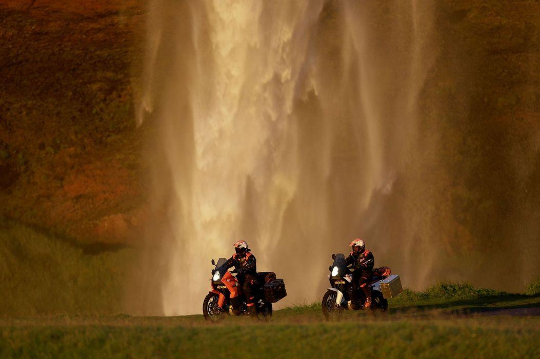 2010 KTM 990 Adventure-R adventure waterfall waterfalls wallpaper
