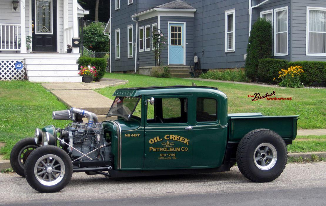 Cummins Diesel Turbo Ford Model-A model hot rod rods retro engine engines  g wallpaper