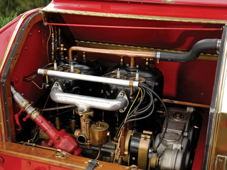 1907 Itala Grand Prix two-seater retro race racing engine engines wallpaper
