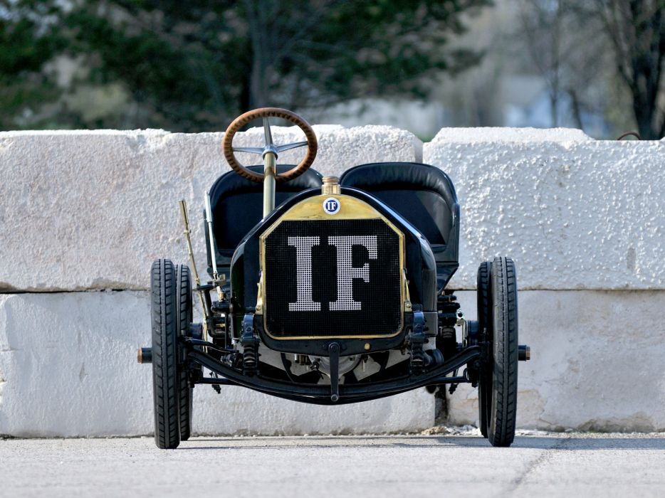 1908 Isotta-Fraschini Tipo FENC Semi Racer retro race racing wallpaper