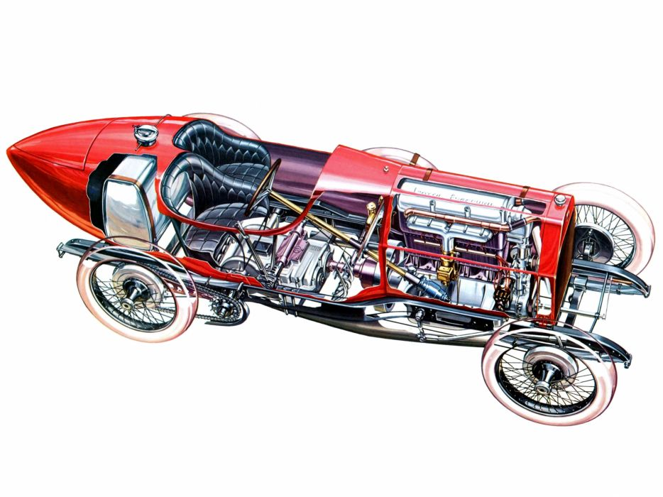 1912 Isotta-Fraschini Tipo I-M retro race racing interior engine engines wallpaper