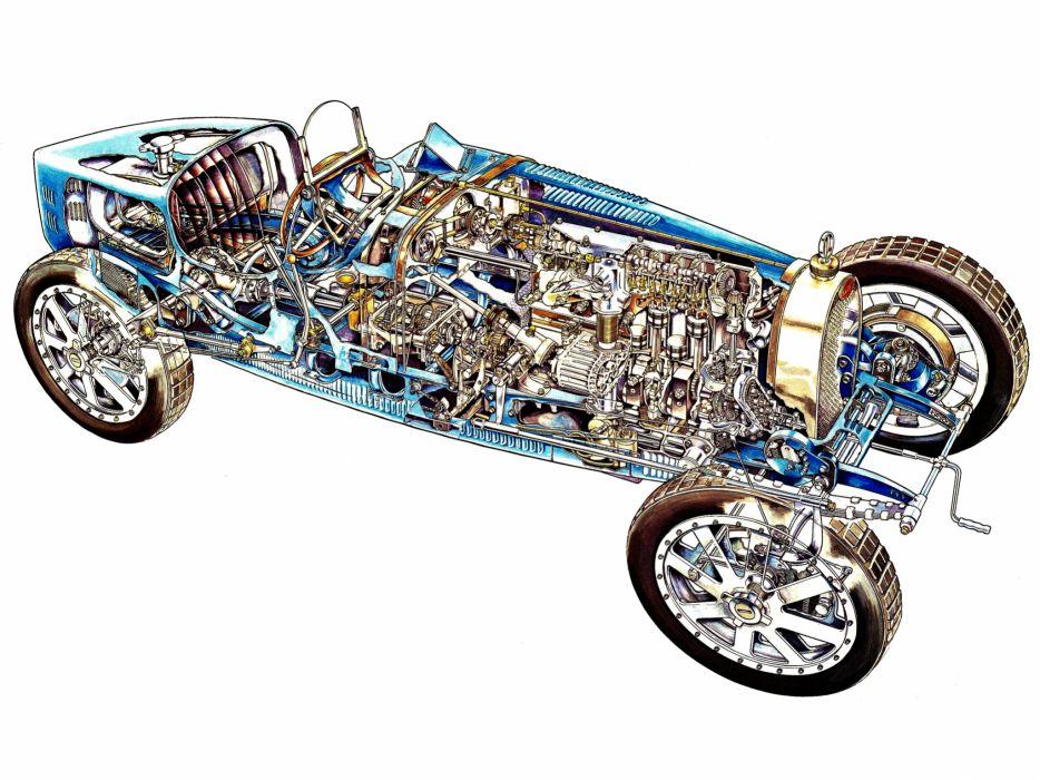 1924 Bugatti Type-35 retro race racing interior engine engines    t wallpaper