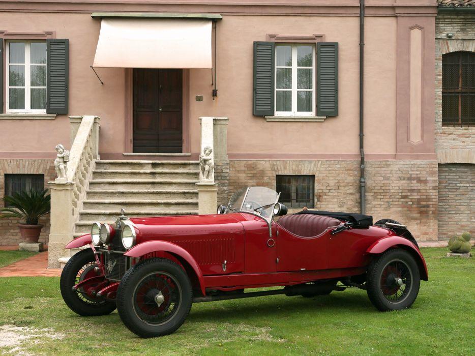 1928 Alfa Romeo 6-C 1500 Mille Miglia Spider retro e wallpaper