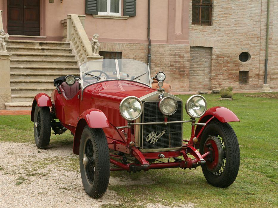 1928 Alfa Romeo 6-C 1500 Mille Miglia Spider retro q wallpaper