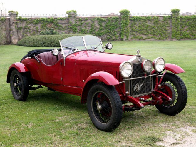 1928 Alfa Romeo 6-C 1500 Mille Miglia Spider retro wallpaper