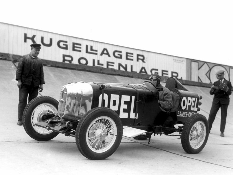 1928 Opel RAK1 retro race racing b-w wallpaper