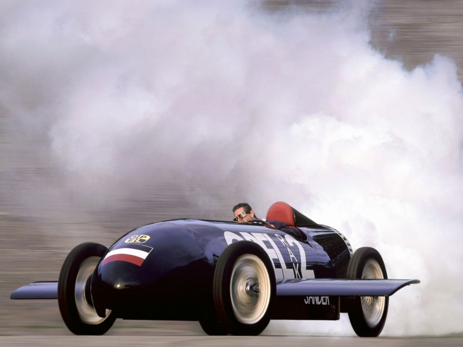 1928 Opel RAK2 retro race racing burnout smoke wallpaper