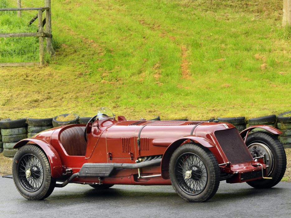 1929 Maserati Tipo V-4 retro race racing a wallpaper