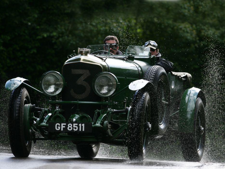 1930 Bentley Speed-aeYaeY6 retro race racing rain drops wallpaper
