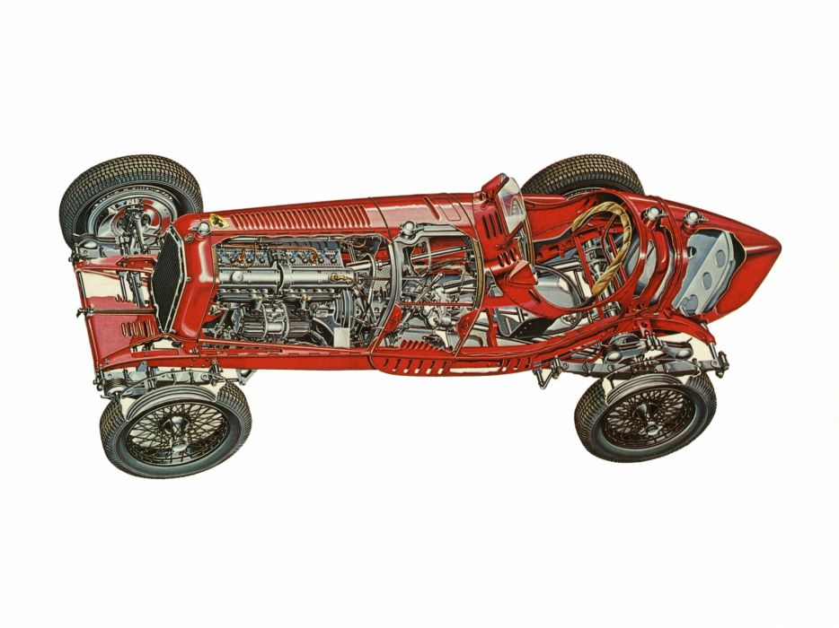 1933 Alfa Romeo Tipo-B P-3 tipo retro race racing interior engine engines  d wallpaper