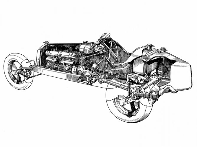 1933 Alfa Romeo Tipo-B P-3 tipo retro race racing interior engine engines wallpaper