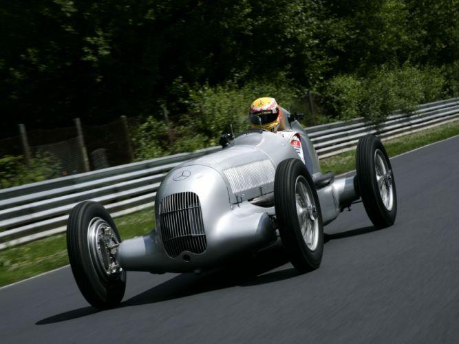 1934 Mercedes Benz Formula W25 retro race racing d wallpaper