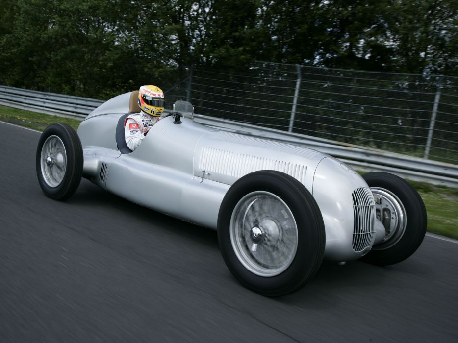 1934 Mercedes Benz Formula W25 retro race racing wallpaper