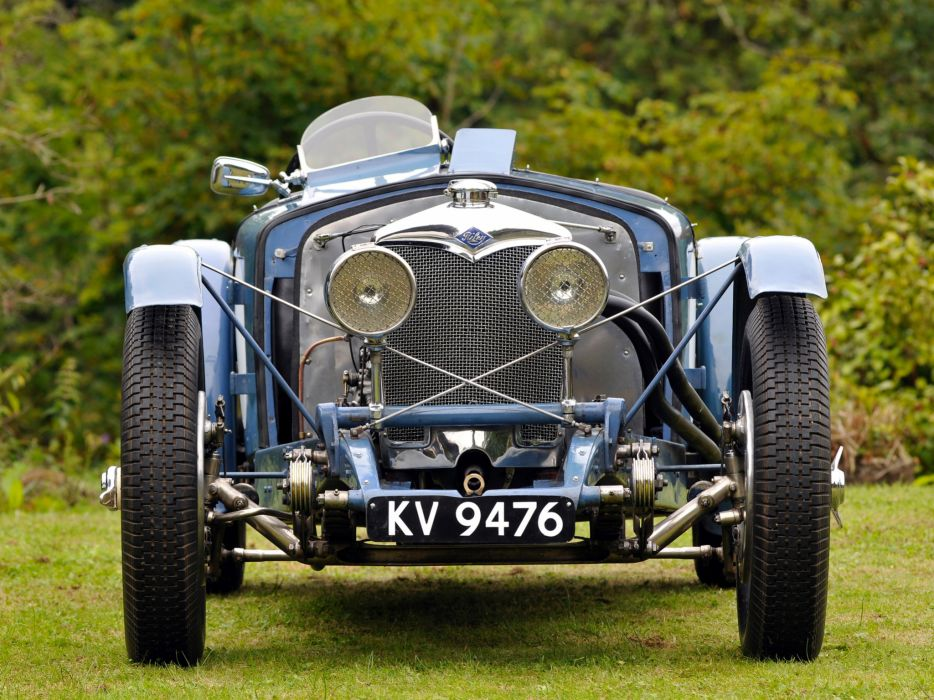 1934 Riley Ulster T-T retro race racing wallpaper