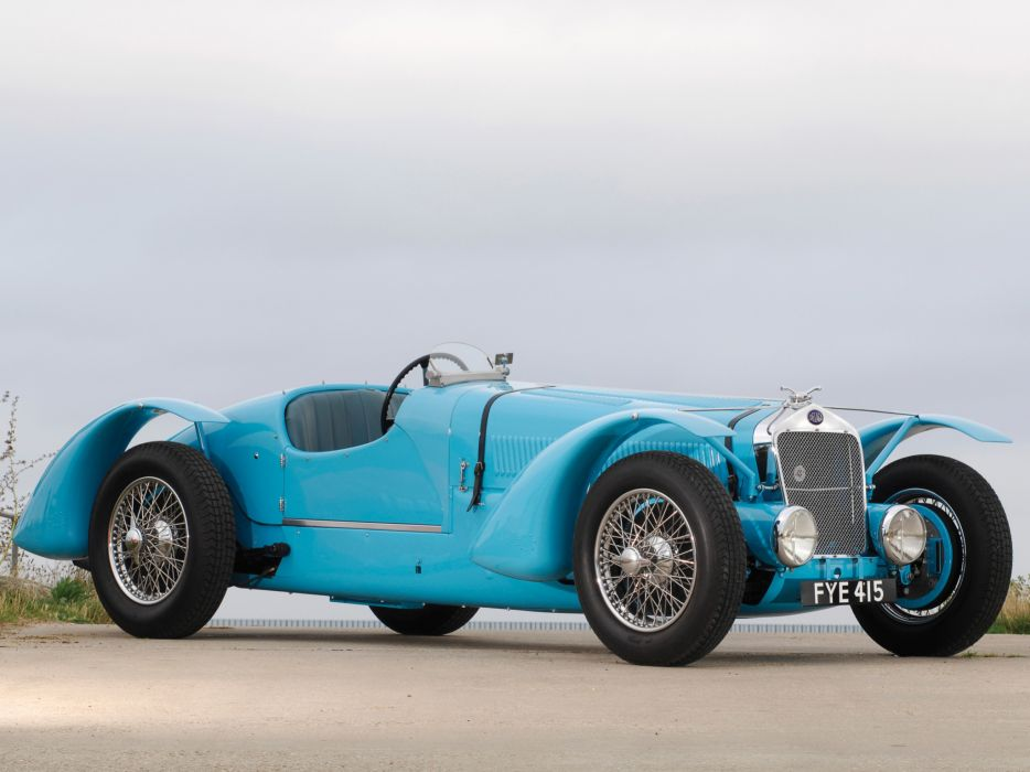 1936 Delage D6-70 retro race racing wallpaper