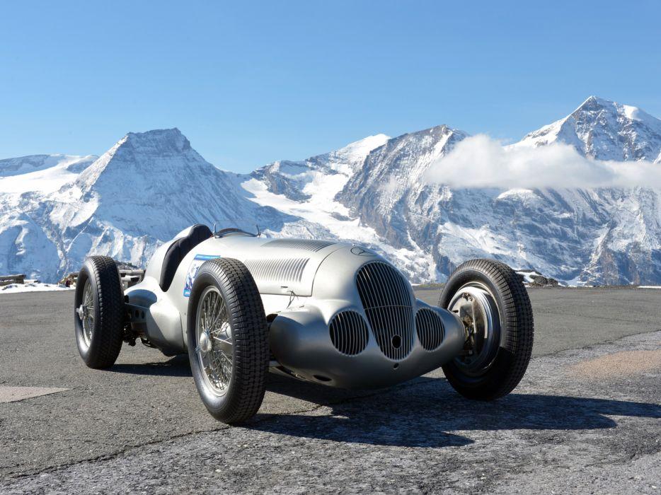 1937 Mercedes Benz Formula W125 retro race racing wallpaper