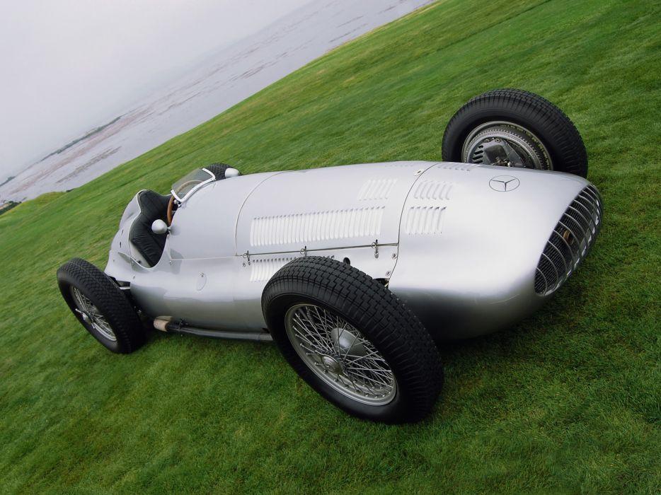 1938 Mercedes Benz Formula Racing Car W154 retro race racing wallpaper