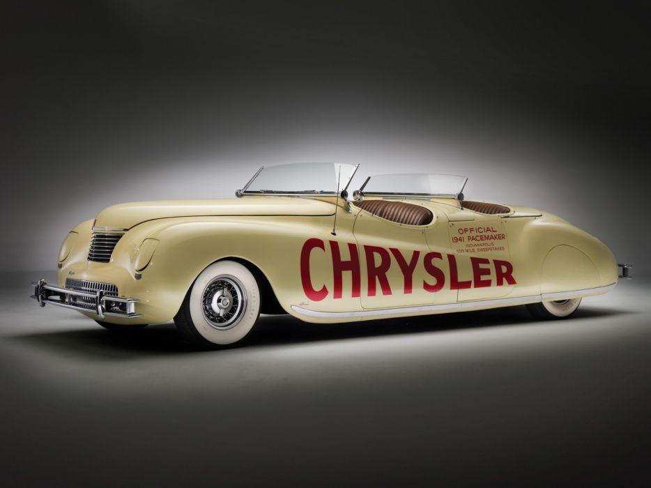 1941 Chrysler Newport Dual Cowl Phaeton LeBaron Indy 500 retro g wallpaper