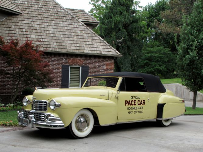 1946 Lincoln Continental Cabriolet Indy 500 Pace retro q wallpaper