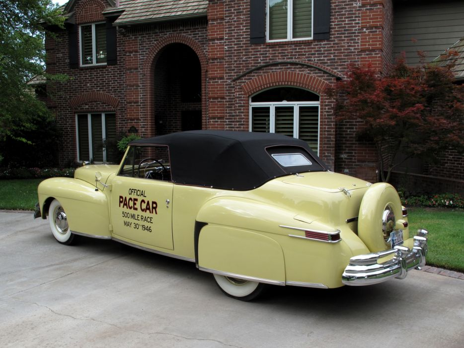 1946 Lincoln Continental Cabriolet Indy 500 Pace retro wallpaper