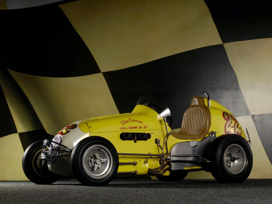 1947 Kurtis Kraft Offenhauser Midget retro race racing wallpaper