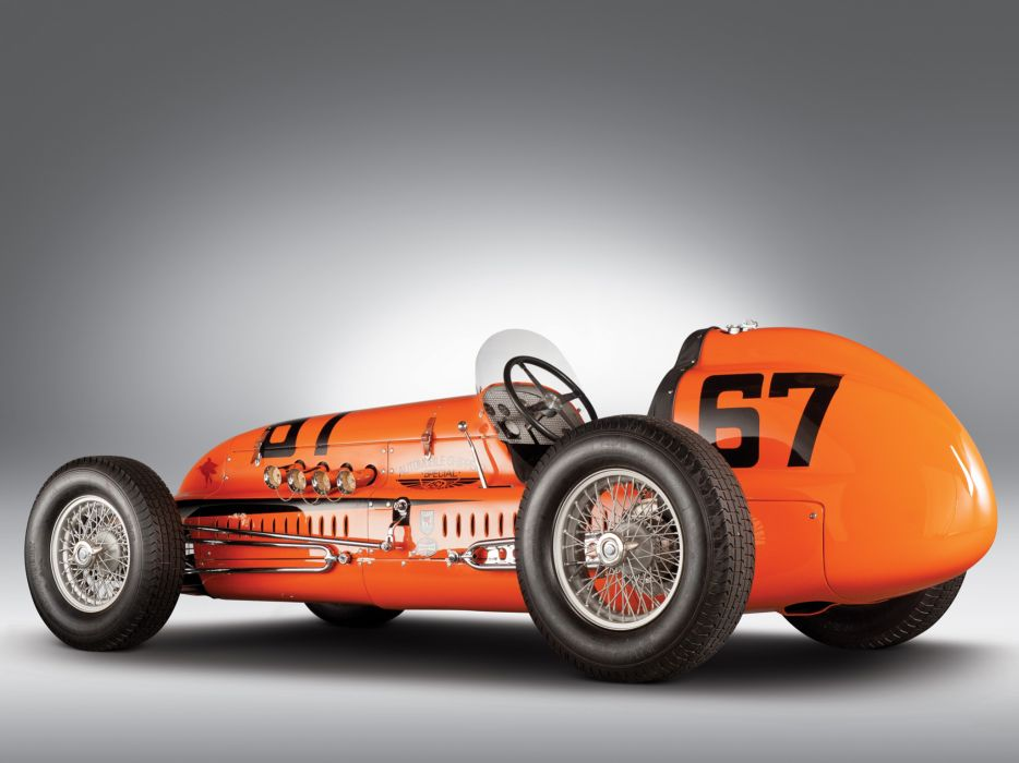 1949 Snowberger-Offy Indy 500 retro race racing wallpaper