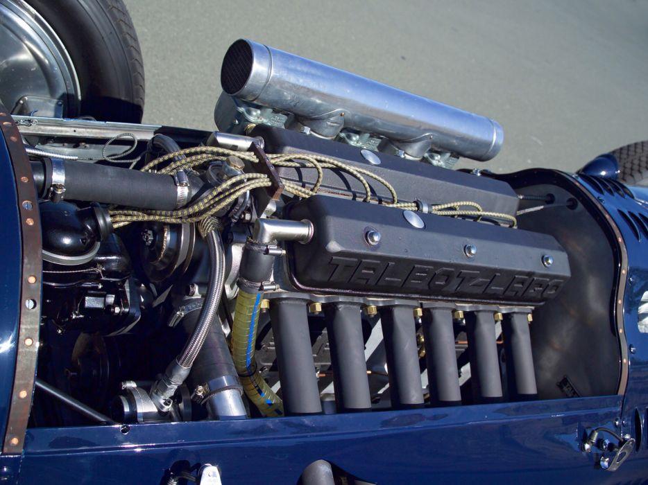 1949 Talbot-Lago T26C retro race racing engine engines wallpaper