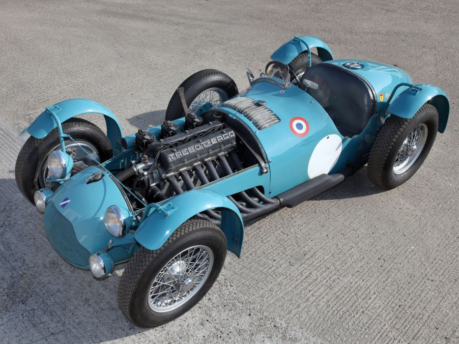 1950 Talbot-Lago T26 G-S retro race racing engine engines wallpaper