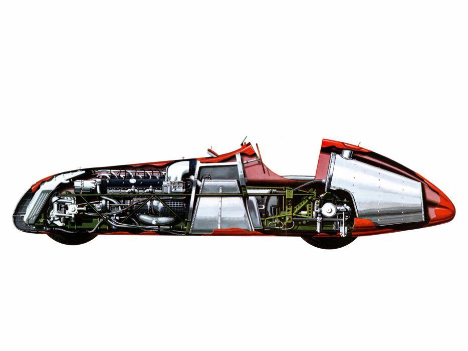 1951 Alfa Romeo Tipo 159 Alfetta retro race racing interior engine engines wallpaper