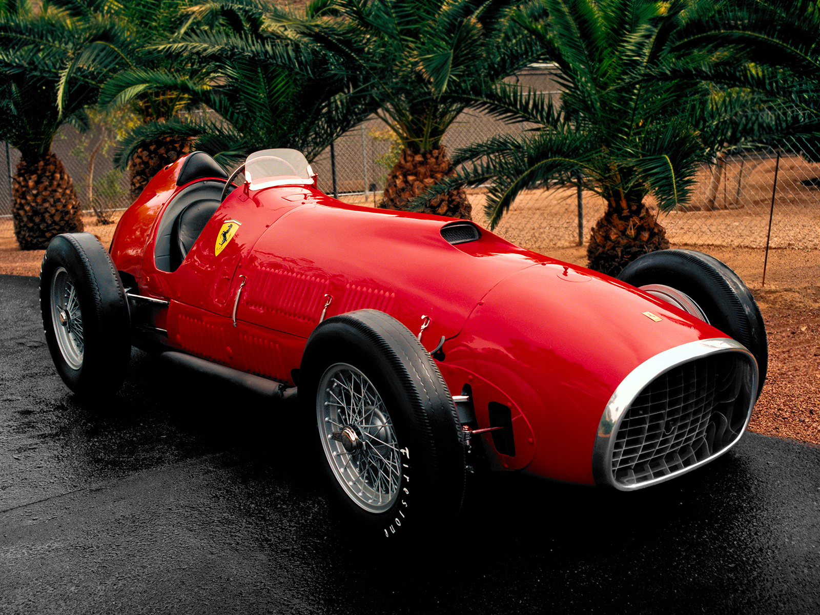 1951 Ferrari 375 F 1 Retro Race Racing Wallpaper