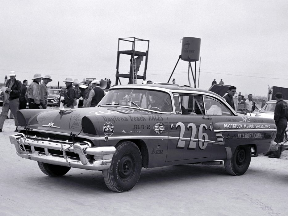 1956 Mercury Monterey NASCAR race racing retro wallpaper