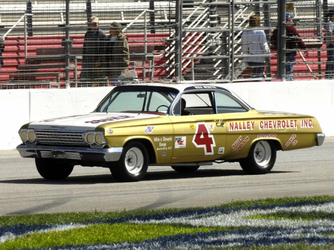 1962 Chevrolet Impala NASCAR race racing classic wallpaper