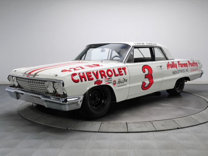 1963 Chevrolet Impala S-S Z33 Mk I-I 427 NASCAR classic race racing muscle wallpaper