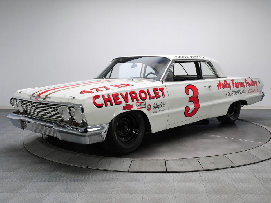 1963 Chevrolet Impala S-S Z33 Mk I-I 427 NASCAR classic race racing muscle wallpaper