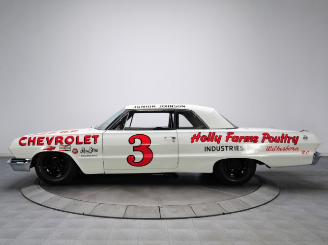 1963 Chevrolet Impala S-S Z33 Mk I-I 427 NASCAR classic race racing muscle w wallpaper