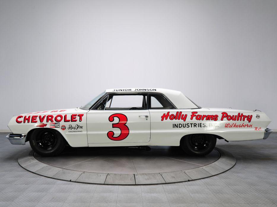 1963 Chevrolet Impala S-S Z33 Mk I-I 427 NASCAR classic race racing muscle w wallpaper