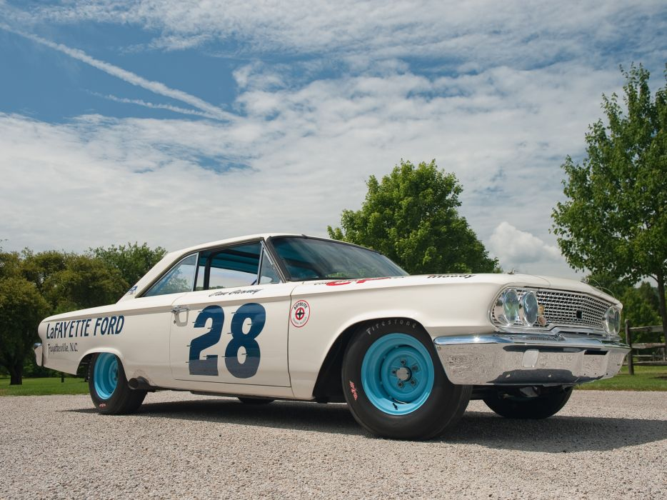 1963 Ford Galaxie 500 X-L 427 Lightweight NASCAR race racing classic muscle     f wallpaper
