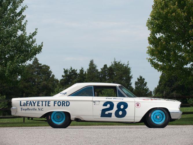 1963 Ford Galaxie 500 X-L 427 Lightweight NASCAR race racing classic muscle d wallpaper