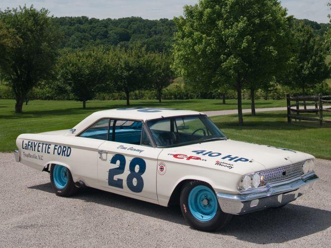 1963 Ford Galaxie 500 X-L 427 Lightweight NASCAR race racing classic muscle g wallpaper