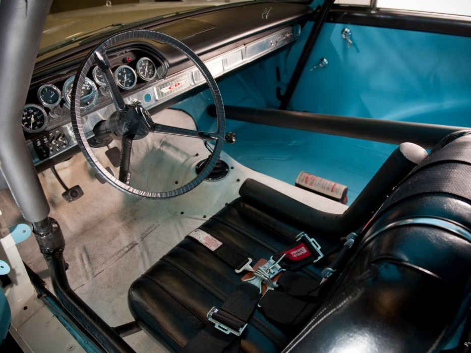 1963 Ford Galaxie 500 X-L 427 Lightweight NASCAR race racing classic muscle interior wallpaper