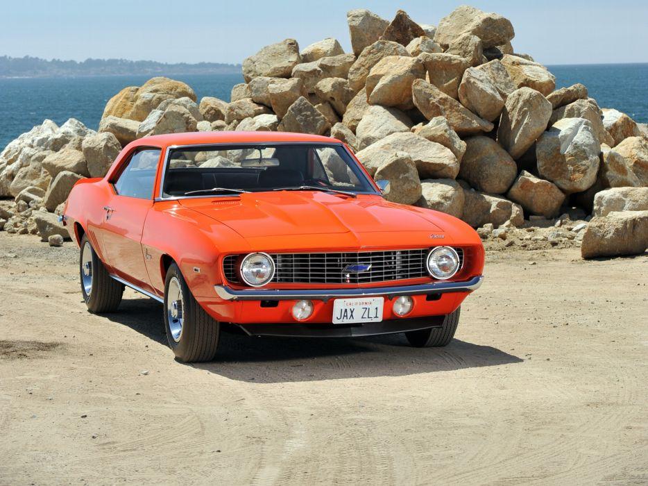 1969 Chevrolet Camaro ZL-1 muscle classic t wallpaper
