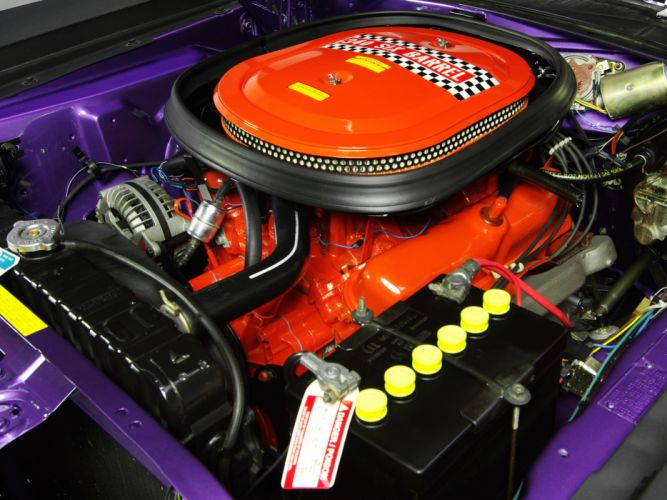 1970 Plymouth AAR Cuda BS23 muscle classic engine engines wallpaper