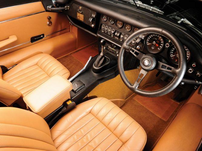 1974 Jaguar E-Type V12 Roadster supercar supercars classic interior wallpaper