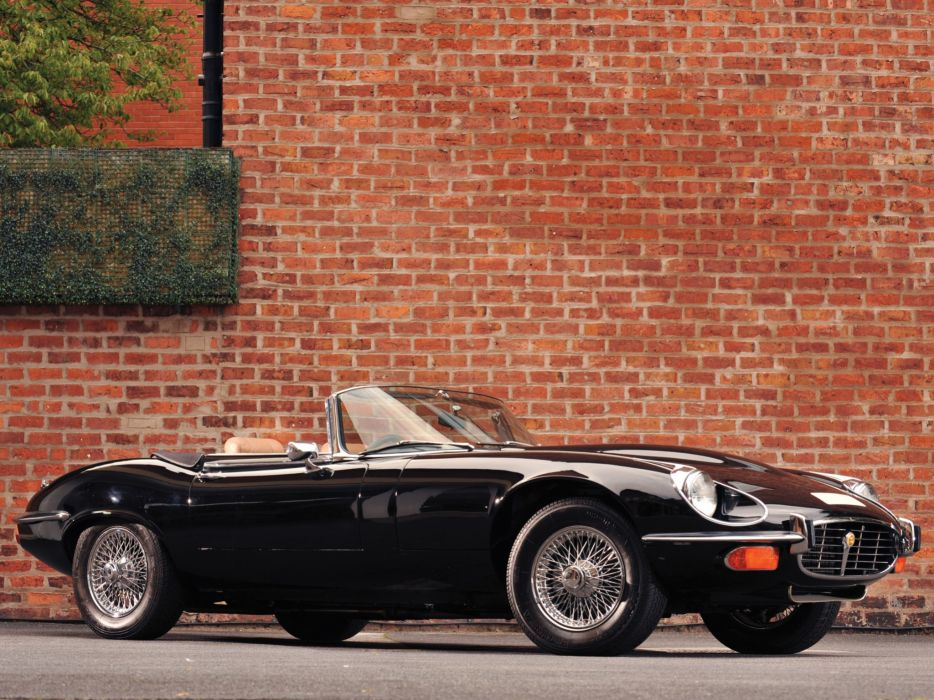 1974 Jaguar E-Type V12 Roadster supercar supercars classic wallpaper