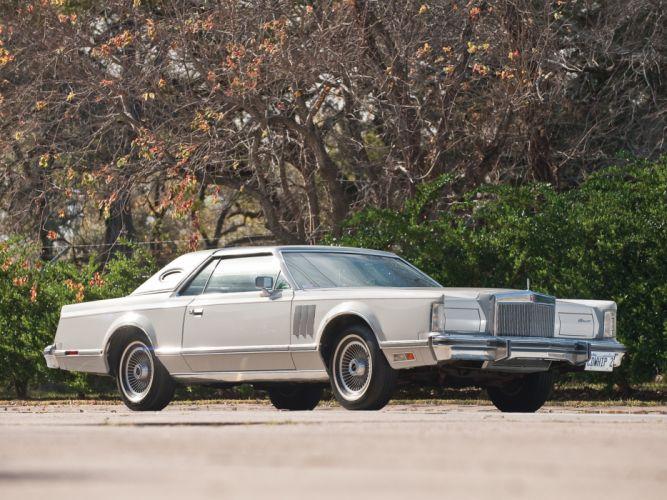 1977 Lincoln Continental Mark-V classic luxury wallpaper
